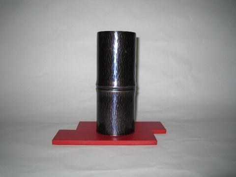 銅製 竹模様花瓶(桐箱入)