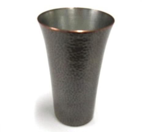 銅製 ビアカップ 刃鎚目(素銅色)