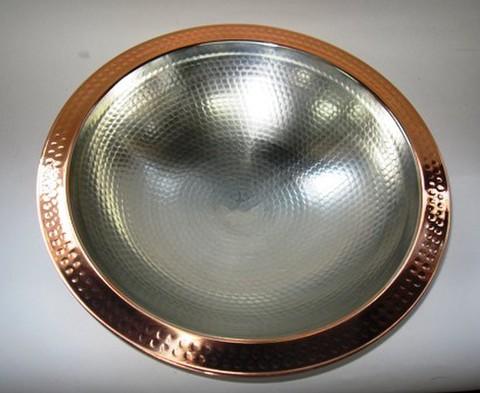 銅製 つち目 うどんすき鍋    30cm