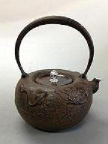 47 鉄瓶 蝋型、丸芦屋龍    1.6L
