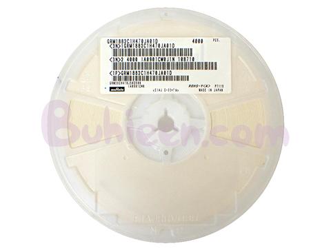 Murata|積層セラミックコンデンサ|GRM1882C1H470JA01D  (4,000個セット)