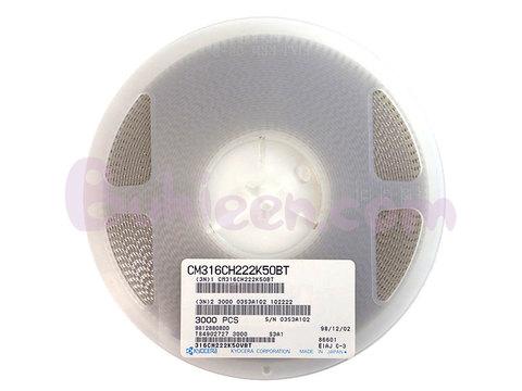 KYOCERA|積層セラミックコンデンサ|CM316CH222K50BT