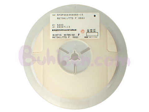 KOA|抵抗器|RK73H1JTTD8660F  (5,000個セット)