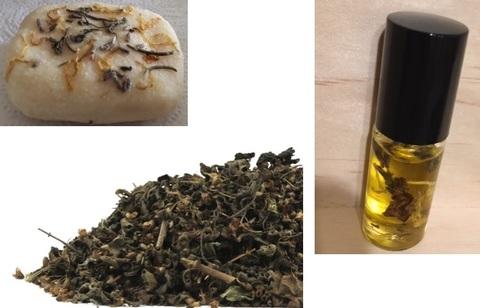 サンダルウッド(白檀)ホーリーバジル・ハーバリウムオイル石鹸セット