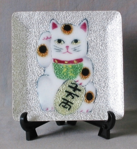 飾皿 招き猫