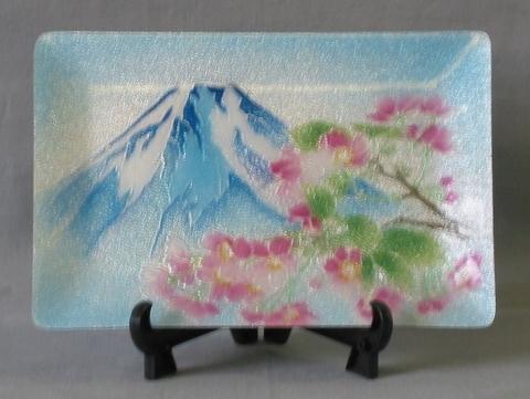 飾皿 富士桜