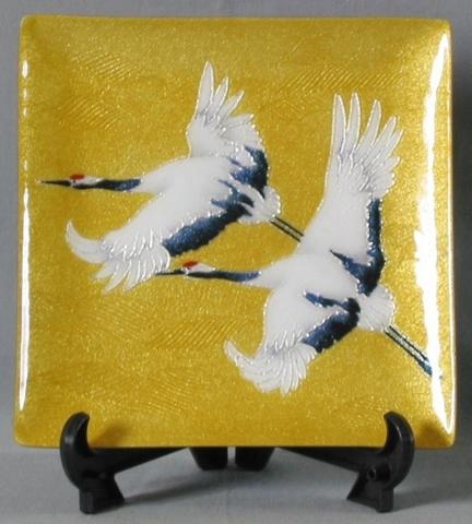 飾り皿 双鶴 (特別価格)