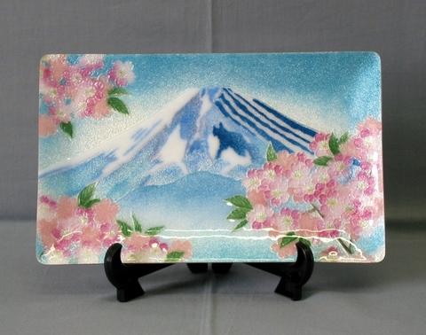 飾皿 富士桜 (特別価格)