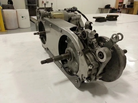 Wor Fabrications Casebrace for GY6 Long Case  Motor
