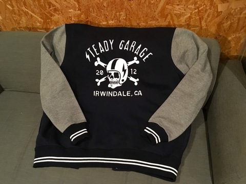 Seady Garage SPEED SKULLY VARSITY SWEATSHIRT JACKET