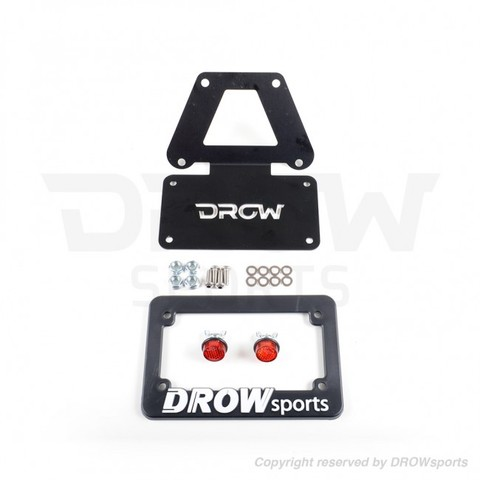 DROWsports License Plate Bracket Set GROM/MSX125 〜2016