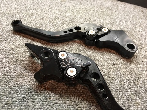 Spyker Adjustable Lever Set Black GROM/MSX125