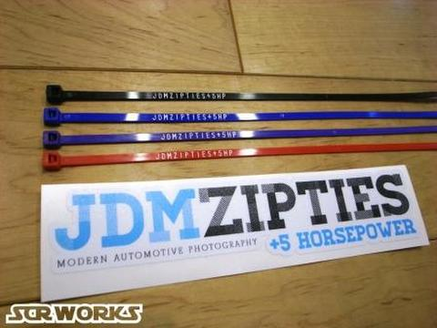 JDM ZIPTIES Zip Ties & +5 Horsepower Decal