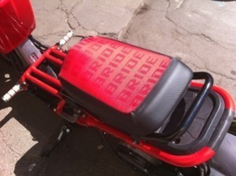 GorbyGear RED BRIDE SEAT COVER Zoomer/Ruckus