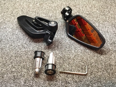 Spyker Bar End Mirrors Black