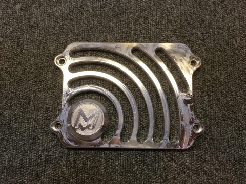 "Machined Machines ""Round"" Radiator Cover Zoomer/Scoopy"