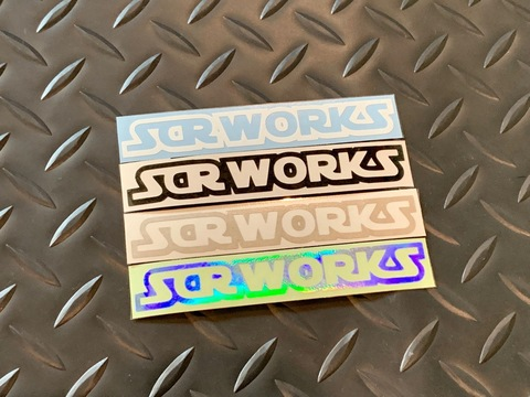 "SCR_WORKS Die Cut Decal "" WORKS"""