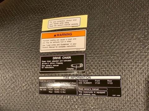 Monkey125 USDM Caution Label Set