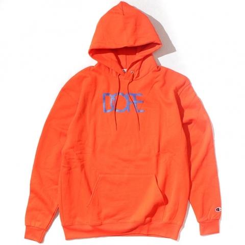 DOPE Classic Logo Dope×Champion Hoodie Orange