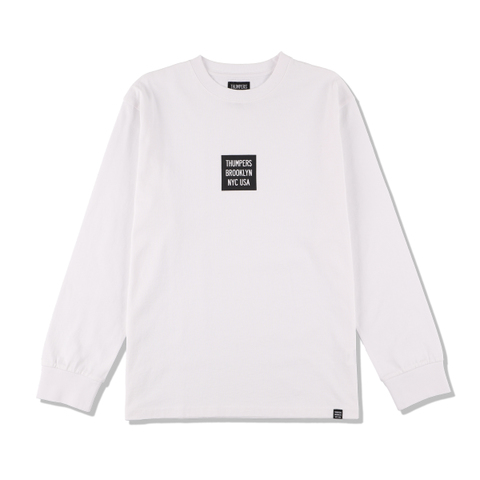 THUMPERS NYC BOXLOGO L/S Tee WHITE
