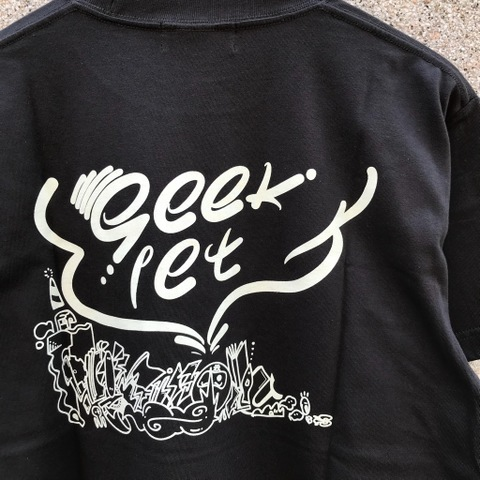 seek:let NOYR LOGO TEE VINTAGE BLACK