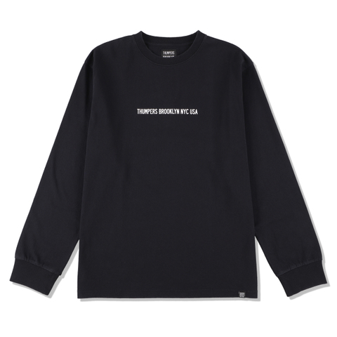 THUMPERS NYC LOGO L/S Tee BLACK