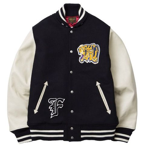 FUCT SSDD FUCT CO.AWARD JACKET 7519 NAVY