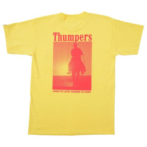 THUMPERS BROOKLYN NYC USA  LOVEKEEP S/S POCKET TEE(YELLOW)