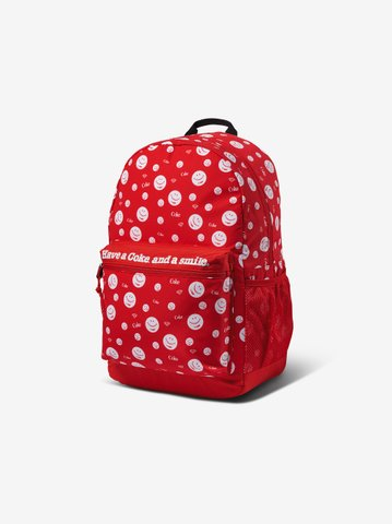 DIAMOND SUPPLY CO.X COCA-COLA SMILEY BACKPACK - RED