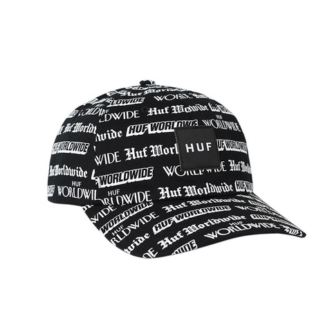 HUF FAKE NEWS CV HAT BLACK