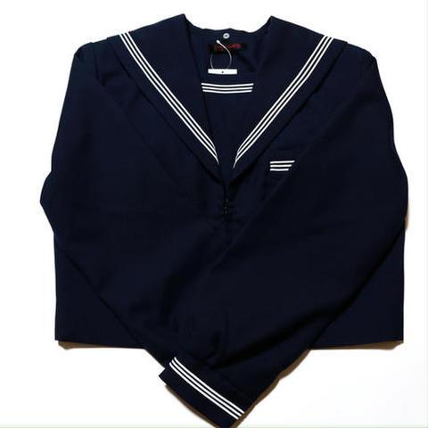 いしはらオリジナル紺セーラー服 (前開き・襟カバー、リボン無し)