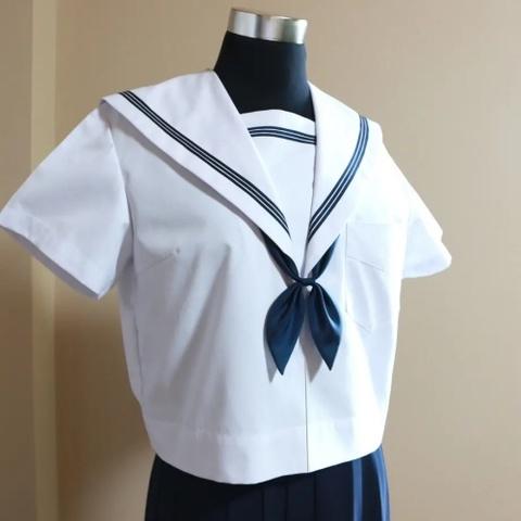 中学校制服 / 佐野中学校 女子【半袖】セーラー服(紺リボン付)
