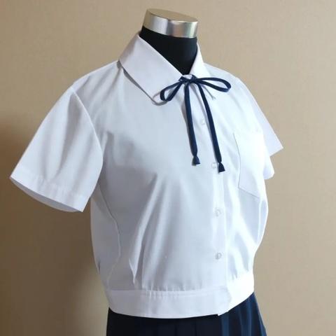 中学校制服 / 日根野中学校 女子【半袖】ブラウス(紺リボン付)