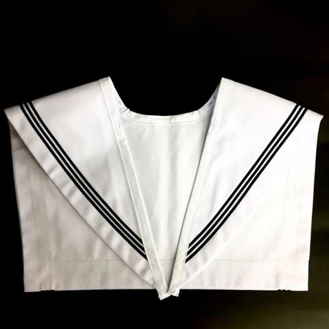 佐野中学校 いしはらオリジナルセーラー服用 白・紺3本線襟カバー
