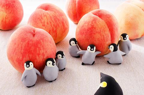 14 桃(ペンギン)