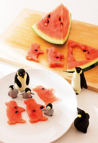 15 スイカ型抜き(ペンギン)
