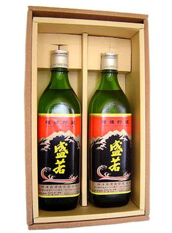 本格焼酎 盛若 『樫樽貯蔵』 700ml 2本 化粧箱入り 【神津島酒造】