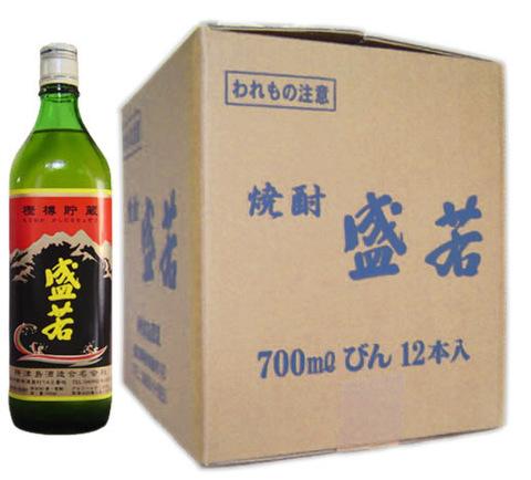 本格焼酎 盛若 『樫樽貯蔵』 700ml 12本入り 【神津島酒造】