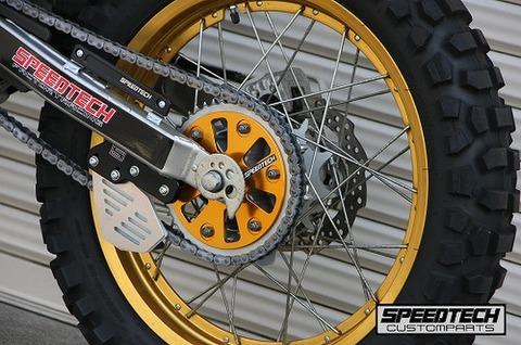 SPEEDTECH スプロケットカバー セロー250/トリッカー/XT250X