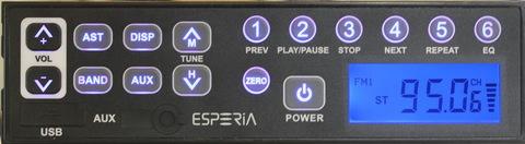 ESPERIA USB・AUX付きAM/ワイドFMチューナー KRH-M103W
