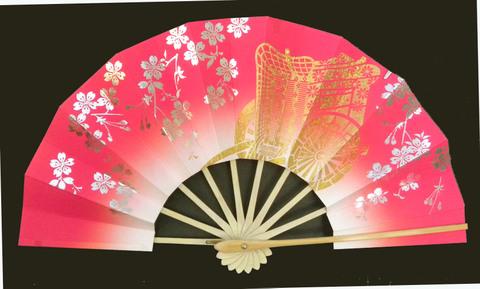 (319)ピンクに御所車銀桜2