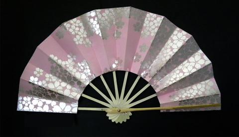 (343)ピンクに銀箔桜