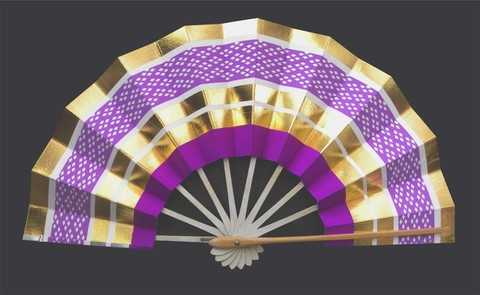(535)ライン紫柄 金銀