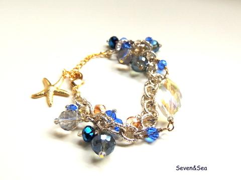Sea blue ブレスレット