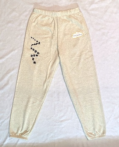 LOLA'S HARDWARE / ladder sweatpants ash gray