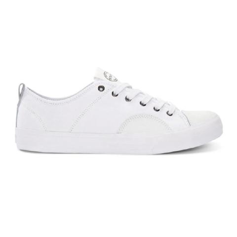 STATE FOOTWEAR / HARLEM- WHITE CANVAS/SUEDE