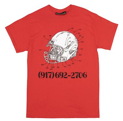 CALL ME 917 / Football Tee RED