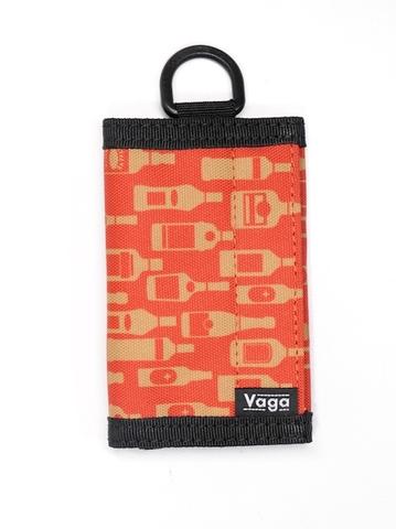 "VAGA /  Nano Wallet  ""Bottles"" burgundy"