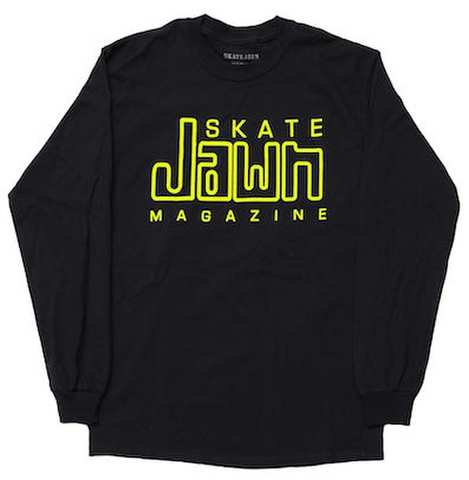 SKATE JAWN / COMPACY JAWN L/S TEE - BLACK