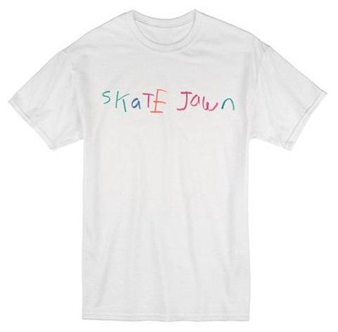 SKATE JAWN / Crayon tee - White